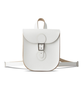 brit stitch handbag white
