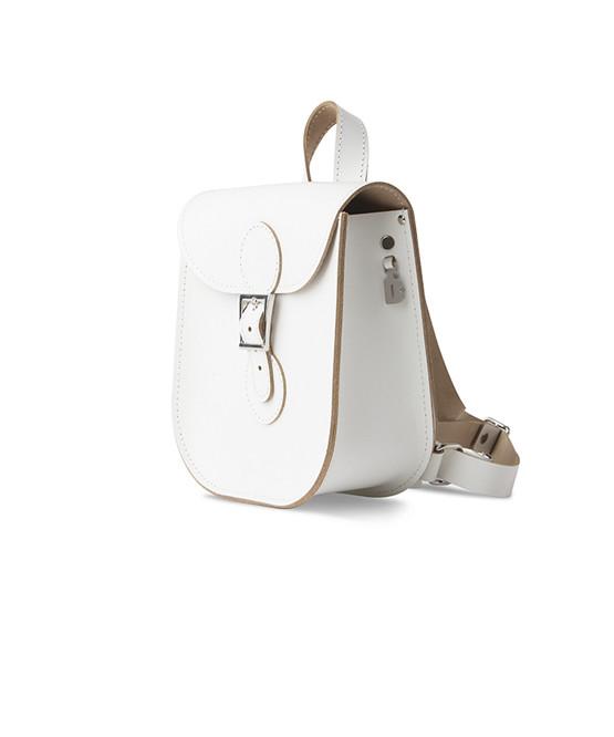 brit stitch handbag white