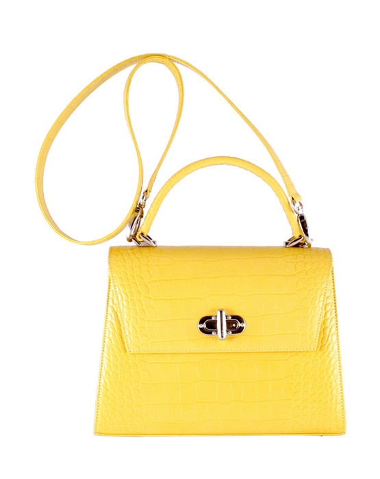 independent handbag designer yellow