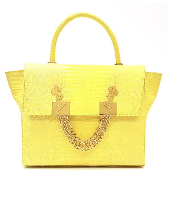 lyasmine handbag yellow gold